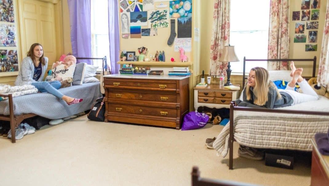 Two girls in dorm room